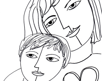 Image result for drawing  love mother to a son